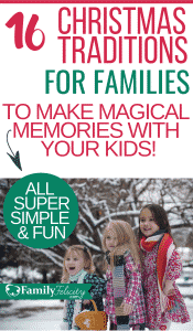 Christmas time is almost here! These fun and memorable Christmas traditions for families are really easy and fun!