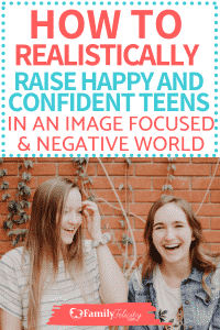 Teenagers are great. Having struggles with your teenager? Try these simple tips to help you raise a happy and confident teen in this largely negative and image focused world! It's possible! #kidsandparenting #teens #tweens #raisingkids #parenting #parentingtips