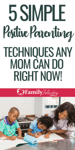 These simple positive parenting techniques are so simple any mom can do them... but they are also highly effective! #kidsandparenting #parenting #positiveparenting